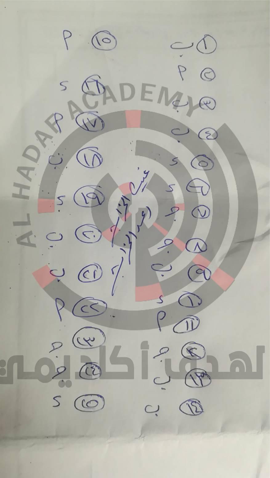 إجابات امتحان الرياضيات التوجيهي التكميلي 2020 – 2021 بالأردن