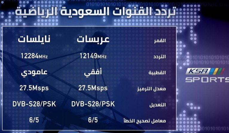 تردد قناة السعودية KSA SPORTS HD الرياضية الجديد 2021