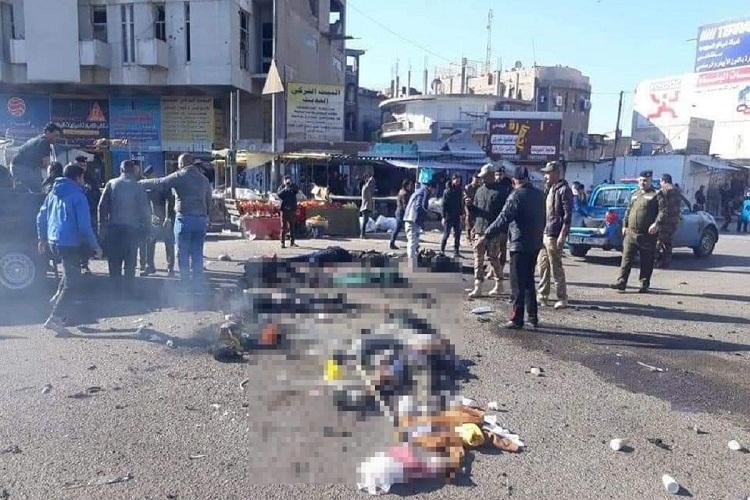 اصابة العشرات من القتلى والجرحى اثر تفجيرين انتحاريين وسط بغداد
