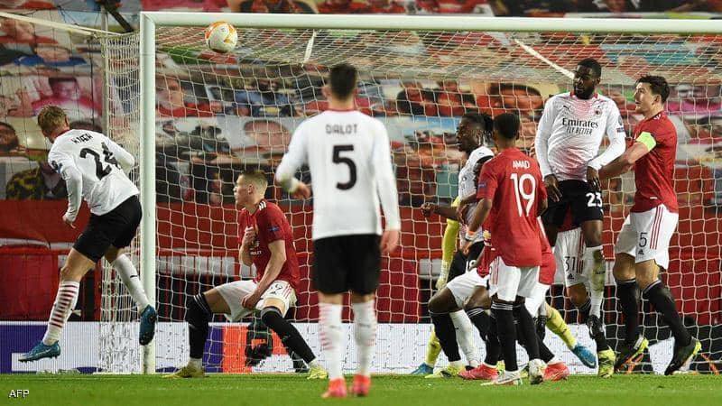 شاهد.. ملخص مباراة مانشستر يونايتد وميلان (1-0)